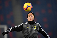 Paulo Dybala of Juventus warms up before the Italy Cup 2018/2019 football match between Bologna and Juventus at stadio Renato Dall'Ara, Bologna, January 12, 2019 <br />  Foto Andrea Staccioli / Insidefoto
