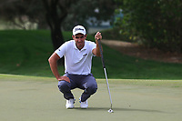 Edoardo Molinari (ITA) on the 1st fairway during Round 1 of the Omega Dubai Desert Classic, Emirates Golf Club, Dubai,  United Arab Emirates. 24/01/2019<br /> Picture: Golffile | Thos Caffrey<br /> <br /> <br /> All photo usage must carry mandatory copyright credit (&copy; Golffile | Thos Caffrey)