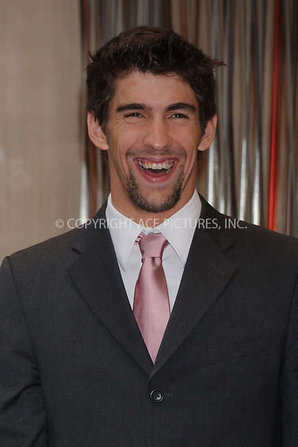 WWW.ACEPIXS.COM . . . . . ....April 22 2009, New York City....Olympic Gold Medalist swimmer Michael Phelps at a watch donation and signing at the Omega Watches Flagship store on April 22, 2009 in New York City.....Please byline: KRISTIN CALLAHAN - ACEPIXS.COM.. . . . . . ..Ace Pictures, Inc:  ..tel: (212) 243 8787 or (646) 769 0430..e-mail: info@acepixs.com..web: http://www.acepixs.com