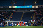 Blackburn Rovers 3 Shrewsbury Town 1, 14/01/2018. Ewood Park, League One. Home captain Charlie Mulgrew opens the scoring from a free-kick during the first-half as Blackburn Rovers played Shrewsbury Town in a Sky Bet League One fixture at Ewood Park. Both team were in the top three in the division at the start of the game. Blackburn won the match by 3 goals to 1, watched by a crowd of 13,579. Photo by Colin McPherson.