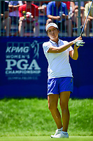 Candie Kung (TPE) prepares to tee off on 1 during Sunday's final round of the 2017 KPMG Women's PGA Championship, at Olympia Fields Country Club, Olympia Fields, Illinois. 7/2/2017.<br /> Picture: Golffile | Ken Murray<br /> <br /> <br /> All photo usage must carry mandatory copyright credit (&copy; Golffile | Ken Murray)