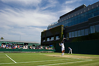 Yuichi Sugita of Japan in action against Adrian Mannarino of France in their Men's Singles Second Round Match today<br /> <br /> Photographer Ashley Western/CameraSport<br /> <br /> Wimbledon Lawn Tennis Championships - Day 4 - Thursday 6th July 2017 -  All England Lawn Tennis and Croquet Club - Wimbledon - London - England<br /> <br /> World Copyright &not;&copy; 2017 CameraSport. All rights reserved. 43 Linden Ave. Countesthorpe. Leicester. England. LE8 5PG - Tel: +44 (0) 116 277 4147 - admin@camerasport.com - www.camerasport.com