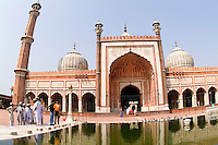Muslim Mosque in Delhi India, the Jama Masjid, is the largest in India