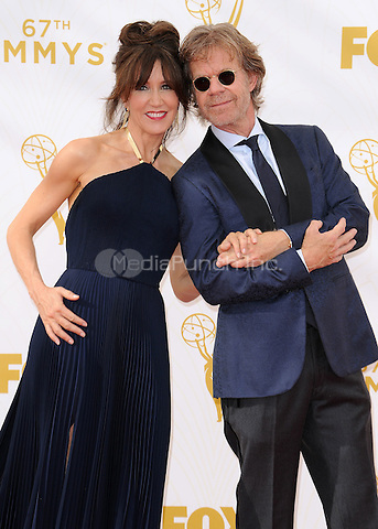 LOS ANGELES - SEPTEMBER 20:  Felicity Huffman and William H. Macy at the 67th Annual Emmy Awards at the Microsoft Theater on September 20, 2015 in Los Angeles, California. Credit: PGSK/MediaPunch