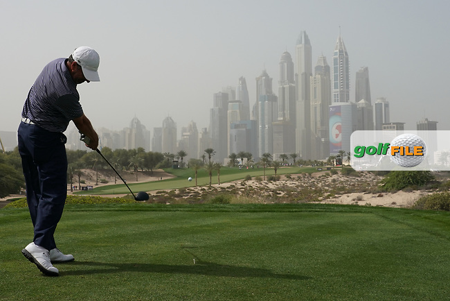Jose Maria Olazabal (ESP) in action during the first round of the Omega Dubai Desert Classic, Emirates Golf Club, Dubai, UAE. 24/01/2019<br /> Picture: Golffile | Phil Inglis<br /> <br /> <br /> All photo usage must carry mandatory copyright credit (© Golffile | Phil Inglis)