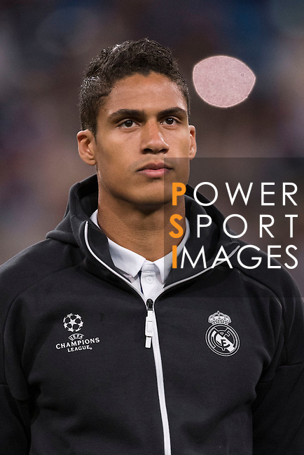 Raphael Varane of Real Madrid poses for photos during their 2016-17 UEFA Champions League match between Real Madrid vs Sporting Portugal at the Santiago Bernabeu Stadium on 14 September 2016 in Madrid, Spain. Photo by Diego Gonzalez Souto / Power Sport Images