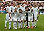 Algeria team group line-up (ALG),<br /> JUNE 22, 2014 - Football / Soccer :<br /> Algeria team group shot (Top row - L to R) Rafik Halliche, Islam Slimani, Aissa Mandi, Carl Medjani, Rais M'Bolhi, Djamel Mesbah, Madjid Bougherra, (Bottom row - L to R) Sofiane Feghouli, Abdelmoumene Djabou, Nabil Bentaleb and Yacine Brahimi during the FIFA World Cup Brazil 2014 Group H match between South Korea 2-4 Algeria at Estadio Beira-Rio in Porto Alegre, Brazil. (Photo by SONG Seak-In/AFLO)