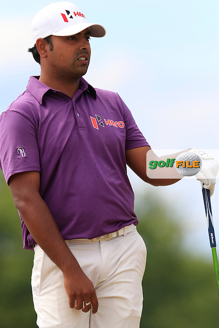 Anirban Lahiri (IND) tees off the 4th tee during Thursday's Round 1 of the 2015 U.S. Open 115th National Championship held at Chambers Bay, Seattle, Washington, USA. 6/18/2015.<br /> Picture: Golffile | Eoin Clarke<br /> <br /> <br /> <br /> <br /> All photo usage must carry mandatory copyright credit (&copy; Golffile | Eoin Clarke)