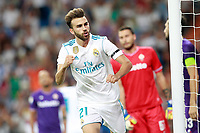 Real Madrid's Borja Mayoral celebrates goal during Santiago Bernabeu Trophy. August 23,2017. (ALTERPHOTOS/Acero) /NortePhoto.com