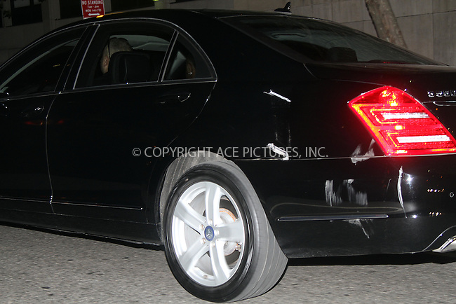 WWW.ACEPIXS.COM . . . . .  ....July 16 2012, New York City....A Mercedes sedan that was carrying actress Katie Holmes and her daughter Suri Cruise was in a minor accident with a garbage truck on July 16 2012 in New York City....Please byline: Zelig Shaul - ACE PICTURES.... *** ***..Ace Pictures, Inc:  ..Philip Vaughan (212) 243-8787 or (646) 769 0430..e-mail: info@acepixs.com..web: http://www.acepixs.com