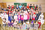 Pupils from St Josephs N.S. Cahersiveen put on a very successful play on Thursday night last 'A Christmas Carol' pictured here the full cast from the play from juniors up to sixth class.
