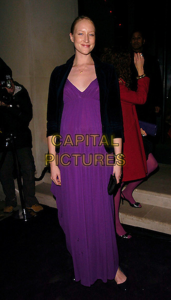 JADE PARFITT.The Donna Karan Gold Fragrance Collection Launch, Donna Karan, New Bond Street, London, UK..November 16th, 2006.Ref: CAN.full length purple dress black jacket pregnant.www.capitalpictures.com.sales@capitalpictures.com.©Can Nguyen/Capital Pictures