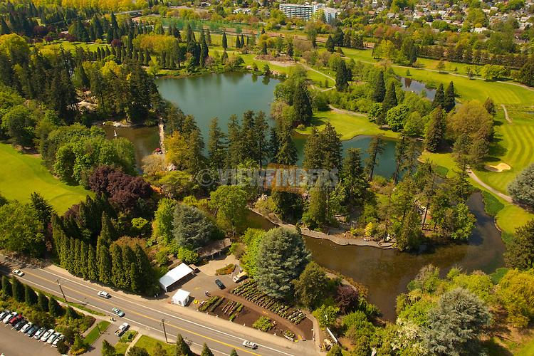 Aerial View of the Rhododendron Garden, SE Portland, Oregon