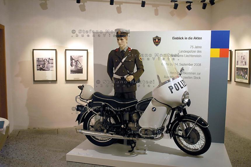 Liechtenstein  Vaduz  June 2008.National  Museum.Exhibition for the 75 years of the Police the Liechenstein.