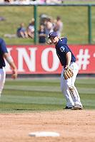 July 11, 2010: Everett AquaSox second baseman Hawkins Gebbers (9) during a Northwest League game against the Spokane Indians at Everett Memorial Stadium in Everett, Washington.