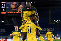Olivier Ntcham of Celtic celebrates with team mates after scoring the winning goal of 1-2 <br /> Roma 7-11-2019 Stadio Olimpico <br /> Football Europa League 2019/2020 <br /> SS Lazio - Celtic <br /> Photo Andrea Staccioli / Insidefoto