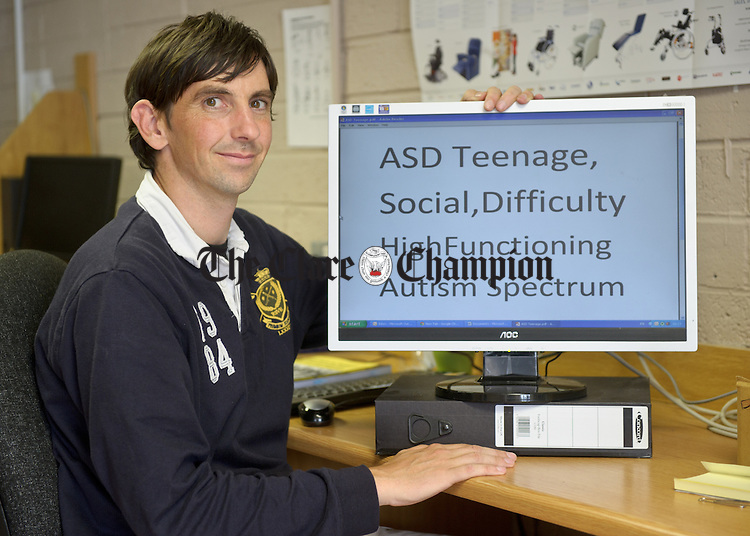 Eoin Mc Inerney, Youth Worker with DPOC, who is embarking on a pilot project on Aspergers, the first of its kind. Photograph by John Kelly.