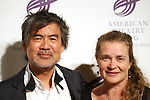 David Henry Hwang and wife Kathryn Layng attending the The 2013 American Theatre Wing's Annual Gala honoring Harold Prince at the Plaza Hotel in New York City on September 16, 2013