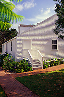 Exterior of an historical home at the Parker Ranch in Waimea (Kamuela), Big Island