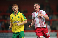 Harrison Reed of Norwich City and Mark McKee of Stevenage during Stevenage vs Norwich City, Friendly Match Football at the Lamex Stadium on 11th July 2017