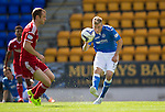 St Johnstone v Aberdeen...23.08.14  SPFL<br /> David Wotherspoon shoots for goal, but his effort curls wide of the post<br /> Picture by Graeme Hart.<br /> Copyright Perthshire Picture Agency<br /> Tel: 01738 623350  Mobile: 07990 594431