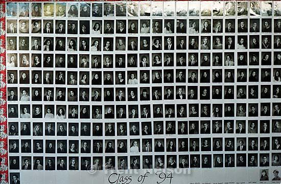 Class of 1994 graduates at Acalanes High School<br />