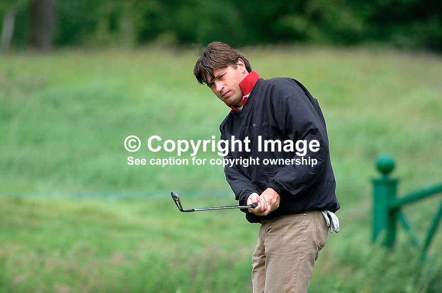 Robert-Jan Derksen, professional golfer, Holland. Picture taken during practice for the Smurfit European Golf Championship at the K Club, Co Kildare, Rep of Ireland. Ref: 200207025763...Copyright Image from Victor Patterson, 54 Dorchester Park, Belfast, UK, BT9 6RJ..Tel: +44 28 9066 1296.Mob: +44 7802 353836.Voicemail +44 20 8816 7153.Skype: victorpattersonbelfast.Email: victorpatterson@mac.com.Email: victorpatterson@ireland.com (back-up)..IMPORTANT: If you wish to use this image or any other of my images please go to www.victorpatterson.com and click on the Terms & Conditions. Then contact me by email or phone with the reference number(s) of the image(s) concerned.