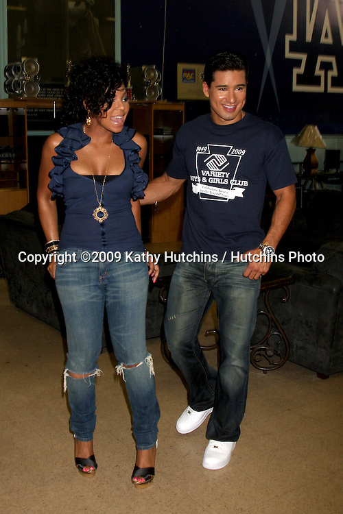 Mario Lopez & Ashanti   at  The Boys & Girls Club of Los Angeles , CA on August 28, 2009.©2009 Kathy Hutchins / Hutchins Photo.