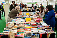 Friday  27 May 2016<br /> Pictured: people browse in the book shops at hay <br /> Re: The 2016 Hay festival take place at Hay on Wye, Powys, Wales