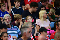 Lincoln City fans watch their team in action<br /> <br /> Photographer Chris Vaughan/CameraSport<br /> <br /> The EFL Sky Bet League Two - Lincoln City v Swindon Town - Saturday 11th August 2018 - Sincil Bank - Lincoln<br /> <br /> World Copyright &copy; 2018 CameraSport. All rights reserved. 43 Linden Ave. Countesthorpe. Leicester. England. LE8 5PG - Tel: +44 (0) 116 277 4147 - admin@camerasport.com - www.camerasport.com