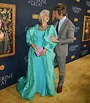 "a_Helen Mirren, Jason Clark 044 attends the Los Angeles Premiere Of The New HBO Limited Series ""Catherine The Great"" at The Billy Wilder Theater at the Hammer Museum on October 17, 2019 in Los Angeles, California."