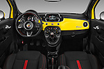 Stock photo of straight dashboard view of 2016 Fiat 500 Abarth 3 Door Hatchback Dashboard