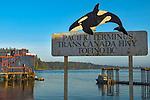 Tofino, British Columbia: Tofino harbor on Vancouver Island, Canada. Terminus of the Transcanada Highway