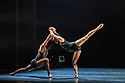 "Ballet Black present a Triple Bill Featuring ""Ingoma"" in the Barbican Theatre. The piece shown is: Pendulum. The choreographer is Martin Lawrance. Design is by Peter Todd with lighting design by David Plater. Picture shows: Sayaka Ichikawa and Mthuthuzeli November."