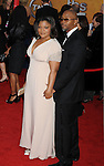 LOS ANGELES, CA. - January 23: Mo'Nique and Sidney Hicks arrive at the 16th Annual Screen Actors Guild Awards held at The Shrine Auditorium on January 23, 2010 in Los Angeles, California.