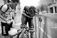 Marc Fournier (FRA) exhausted after finishing<br /> <br /> U23 Men TT<br /> UCI Road World Championships / Richmond 2015