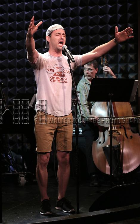 Max Von Essen in rehearsal for 'The Lord & The Master - Broadwayworld.com sings Andrew Lloyd Webber & Stephen Sondheim'  at Joe's Pub on June 16, 2014 in New York City.