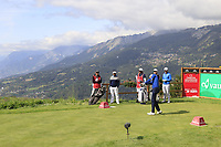 Benjamin Hebert (FRA) tees off the 7th tee during Thursday's Round 1 of the 2017 Omega European Masters held at Golf Club Crans-Sur-Sierre, Crans Montana, Switzerland. 7th September 2017.<br /> Picture: Eoin Clarke | Golffile<br /> <br /> <br /> All photos usage must carry mandatory copyright credit (&copy; Golffile | Eoin Clarke)