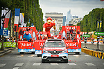 The Publicity Caravan during Stage 21 of the 104th edition of the Tour de France 2017, an individual time trial running 1.3km from Montgeron to Paris Champs-Elysees, France. 23rd July 2017.<br /> Picture: ASO/Bruno Bade | Cyclefile<br /> <br /> <br /> All photos usage must carry mandatory copyright credit (&copy; Cyclefile | ASO/Bruno Bade)