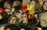 20171020 - LEUVEN , BELGIUM : Belgian fans pictured during the female soccer game between the Belgian Red Flames and Romania , the second game in the qualificaton for the World Championship qualification round in group 6 for France 2019, Friday 20 th October 2017 at OHL Stadion Den Dreef in Leuven , Belgium. PHOTO SPORTPIX.BE | DAVID CATRY