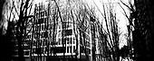 Warsaw 2010 Poland. The Warsaw Ghetto was established for the Jewish population of Warsaw by Germans during their II Word War occupation of Poland. It existed from  October 2,1940 until May 16, 1943. There are very few remnants left of the Ghetto. It covered today's city quarters of Muranow, Nowolipki, Mirow, Nowe Miasto and part of Center Warsaw. Grzybowska street..photo Maciej Jeziorek/Napo Images.Warszawa 2010 Polska. Getto warszawskie za?ozone dla ludno?ci zydowskiej przez okupacyjne w?adze niemieckie istnialo na terenie Warszawy od 2 pa?dziernika 1940  do 16 maja 1943. Nie pozostaly po nim w zasadzie zadne fizyczne slady. Dzis to tereny  m.in. Muranowa, Nowolipek, Mirowa, Nowego Miasta i czesc scislego centrum Warszawy. Ulica Grzybowska. fot. Maciej Jeziorek/Napo Images