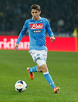 Jorginho   in action during the Italian Serie A soccer match between SSC Napoli and Juventus FC   at San Paolo stadium in Naples, March 30 , 2014