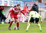 2017-11-05 / voetbal / seizoen 2017-2018 / VC Herentals - Hoeilaart / Jari Bellens (l) (VC Herentals) probeert voorbij Billal El Mesbahi (r) (Hoeilaart) te komen