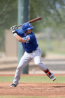 Texas Rangers first baseman / catcher Nick Vickerson (62) during an Instructional League game against the Cincinnati Reds on October 7, 2013 at Goodyear Training Complex in Goodyear, Arizona.  (Mike Janes/Four Seam Images)