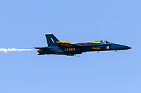 Blue Angels Capt Eric Doyle pilots the lead Blue Angels aircraft during the 2019 San Francisco Fleet Week