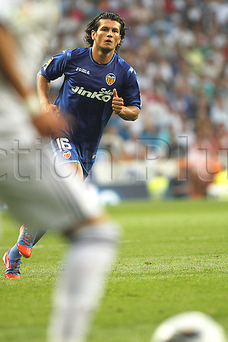 19.08.2012 Madrid, Spain. La Liga Football Real Madrid vs. Valencia CF - Valdez, new striker for VAlencia