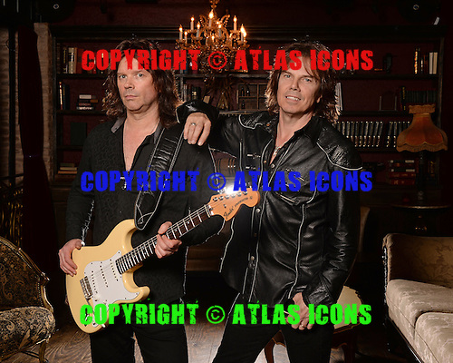 FORT LAUDERDALE FL - FEBRUARY 02: Joey Tempest and John Norum of Europe pose for a portrait at Revolution on February 2, 2016 in Fort Lauderdale, Florida. Photo by Larry Marano © 2016