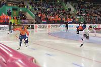 SPEEDSKATING: HAMAR: Vikingskipet, 28-02-2020, ISU World Speed Skating Championships, Sprint, 500m Men, Dai Dai Stab (NED), Joel Dufter (GER), ©photo Martin de Jong