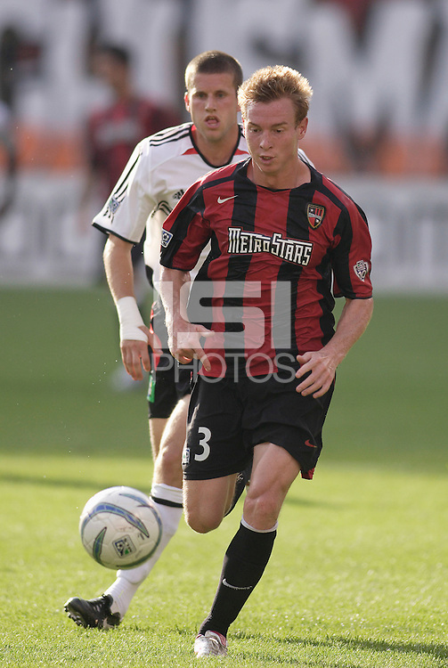 The MetroStars' Chris Leitch. The MetroStars played D.C United to a 0 -0 tie at Giant's Stadium, East Rutherford, NJ, on June 12, 2005.
