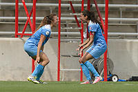 Bridgeview, IL - Sunday June 04, 2017: Sofia Huerta, Christen Press during a regular season National Women's Soccer League (NWSL) match between the Chicago Red Stars and the Seattle Reign FC at Toyota Park.